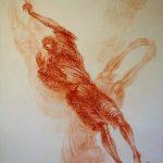 Nichts geht ohne Flügelschlag, 100 x 140 cm, rechter Teil